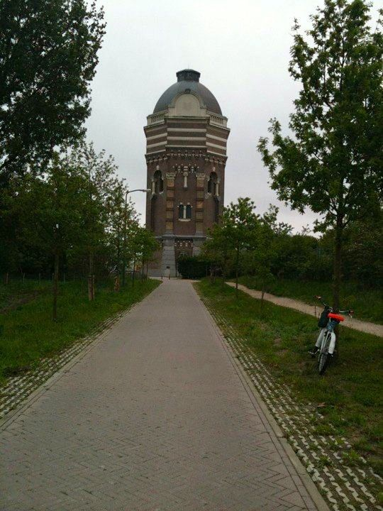 The bike trail towards the Scheveningen Pump House
