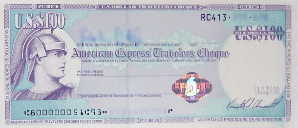 AMEX Travelers Cheques