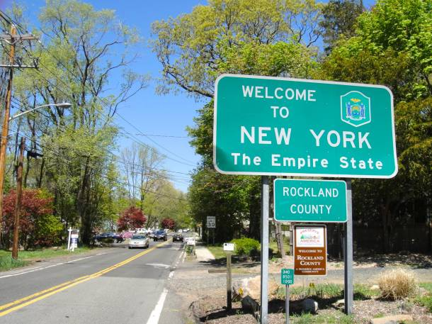 Jersey New York State Line