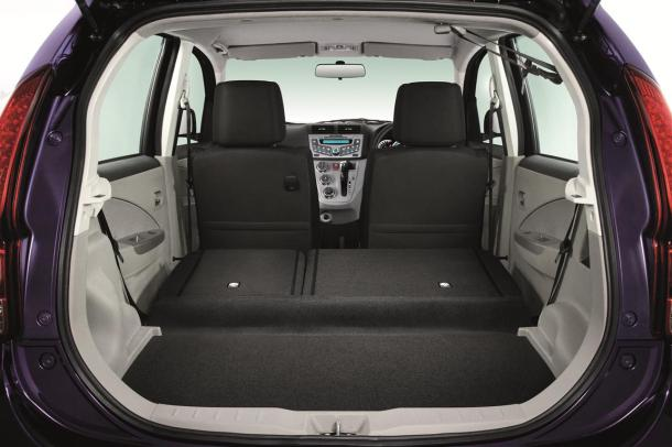 Myvi Boot Area Seats Folded