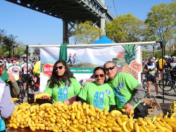 TD 5 Boro Bike tour 2013 Astoria Park Bananas