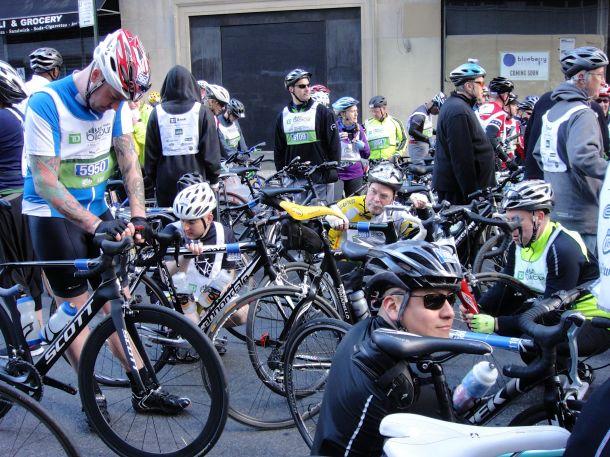 TD 5 Boro Bike Tour 2013 Cold Start