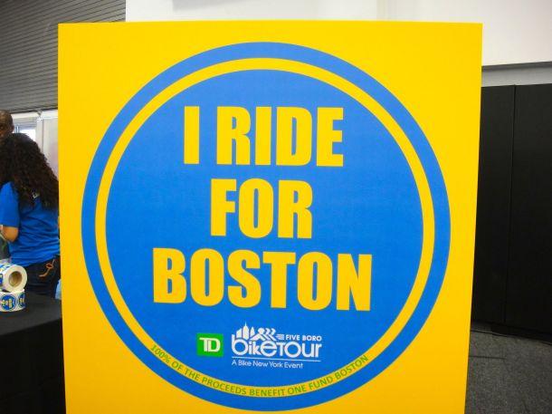 TD 5 Boro Bike tour 2013 I Ride For Boston