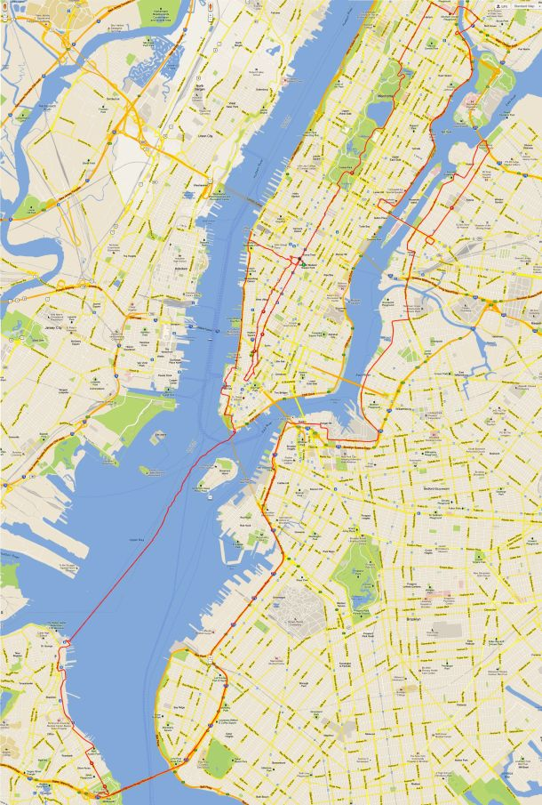 TD 5 Boro Bike Tour Route