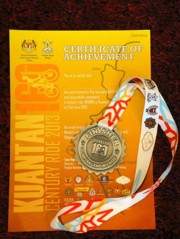 Kuantan Century 2013 Medal
