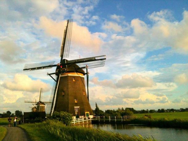 The Drie Molens (Three Mills) in Leidschendam They