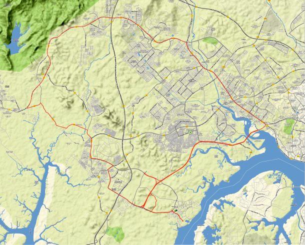 Iskandar Johor Route