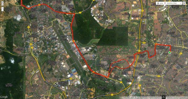 Century Ride Route