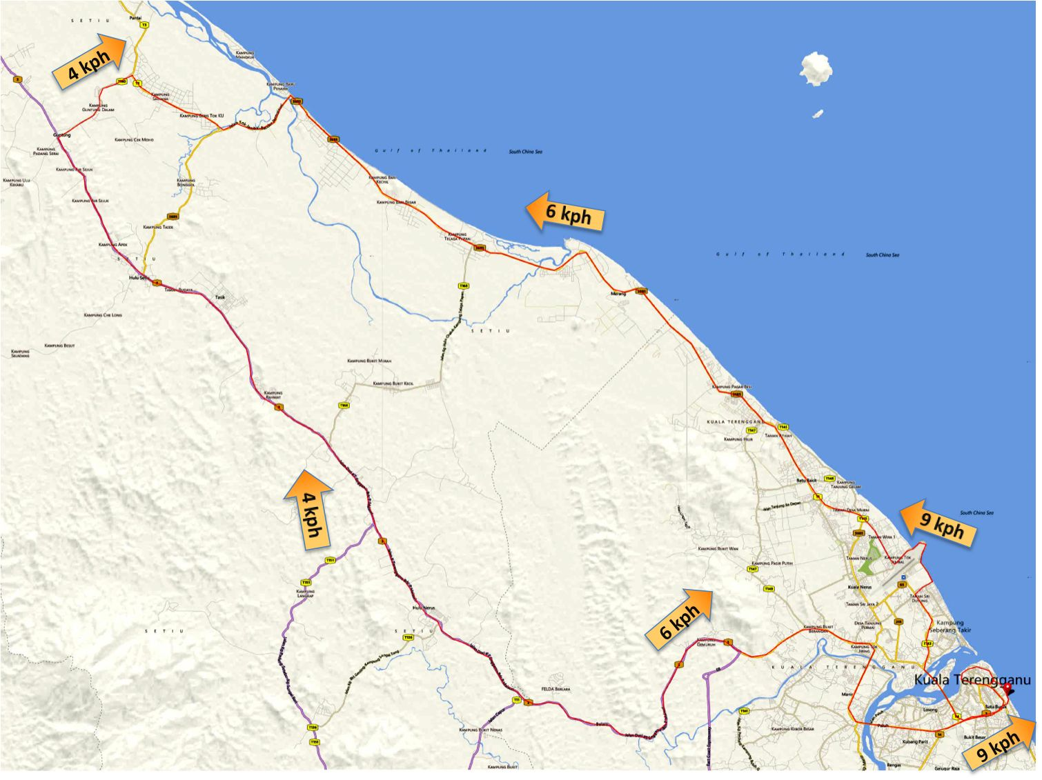 TCR 2013 Route with Wind