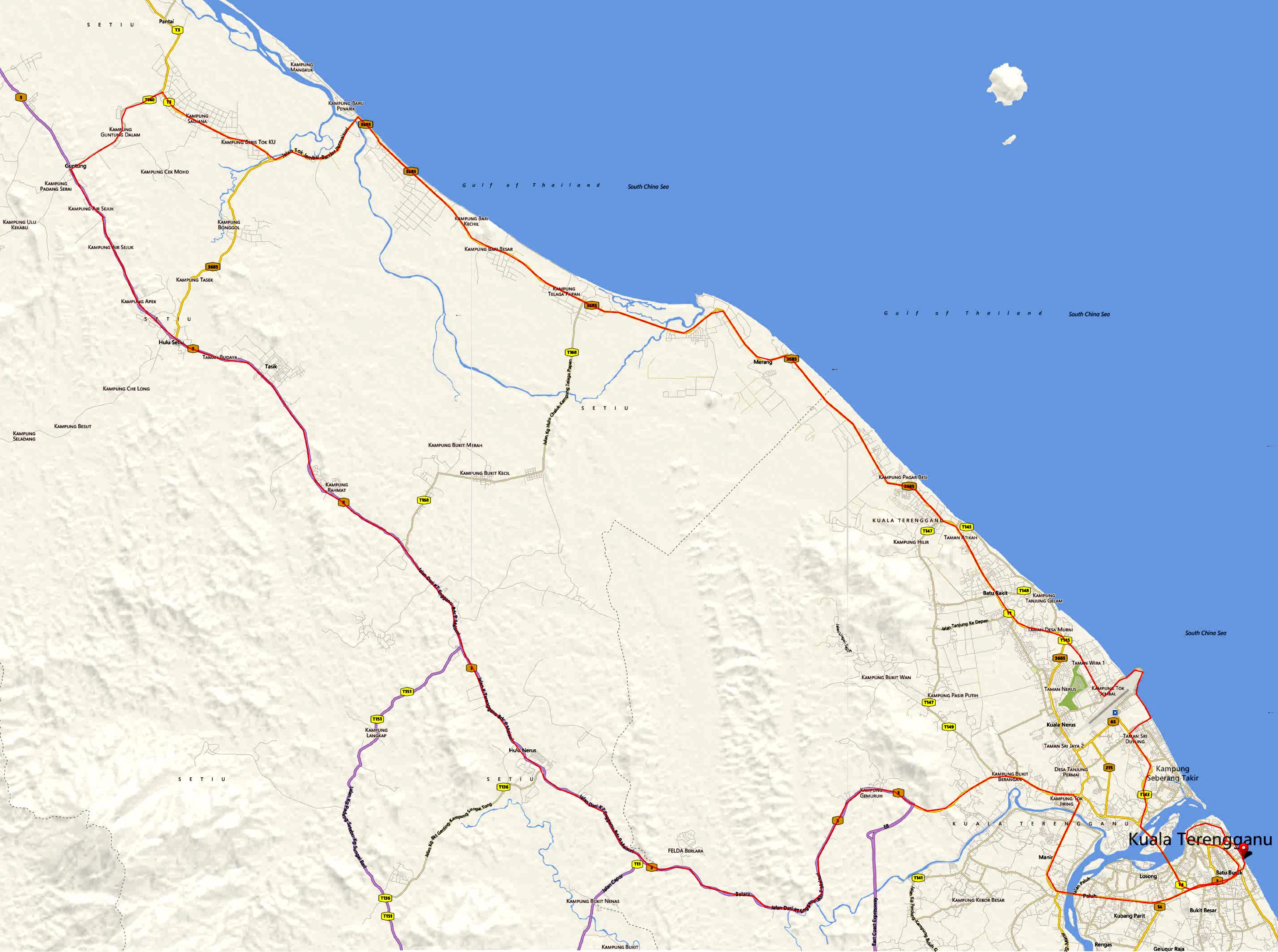 TCR 2013 Route