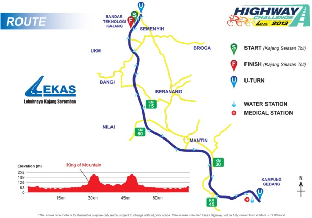 Shimano Highway Challenge LEKAS Route