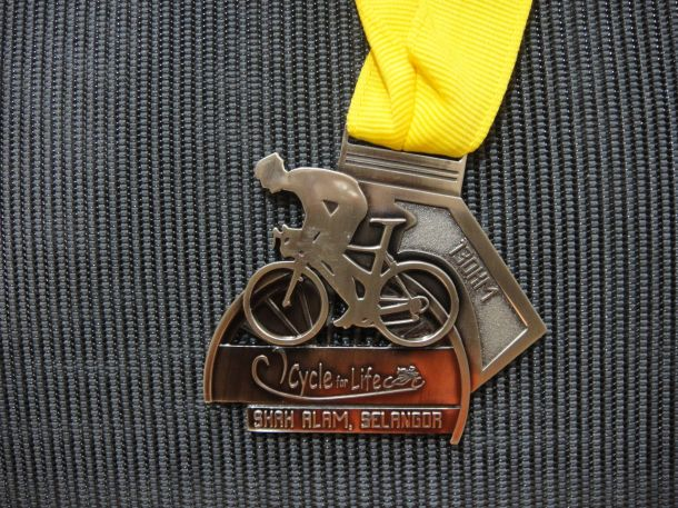 Cycle for Life 2013 Medal