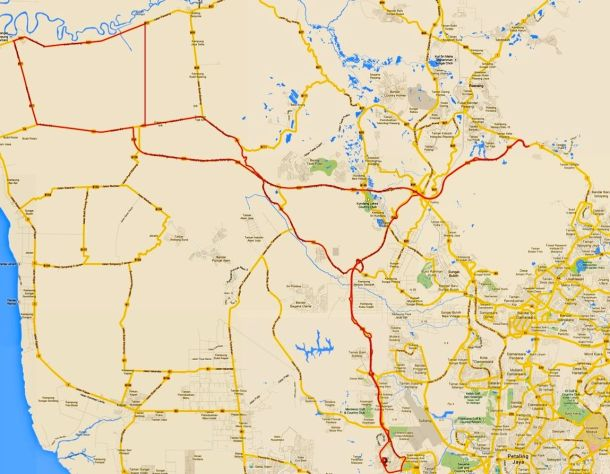 Kampung Kuantan Route