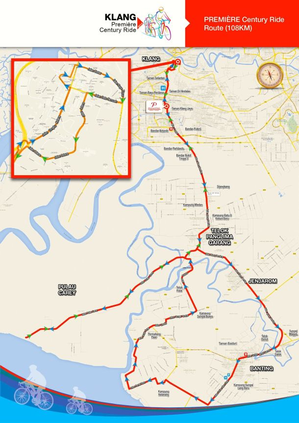 Klang Century Ride Route