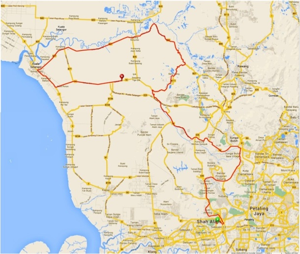 Shah Alam Enduride 2014 JM Route