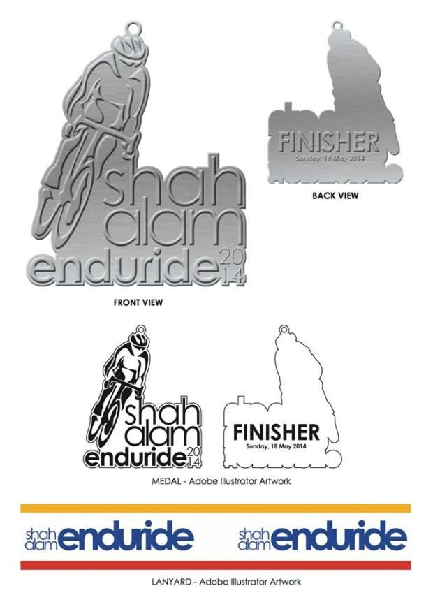 Shah Alam Enduride 2014 Medal