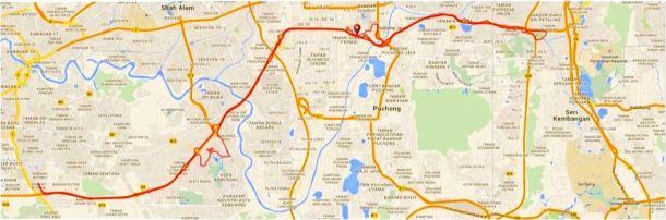 Kota Kemuning Map