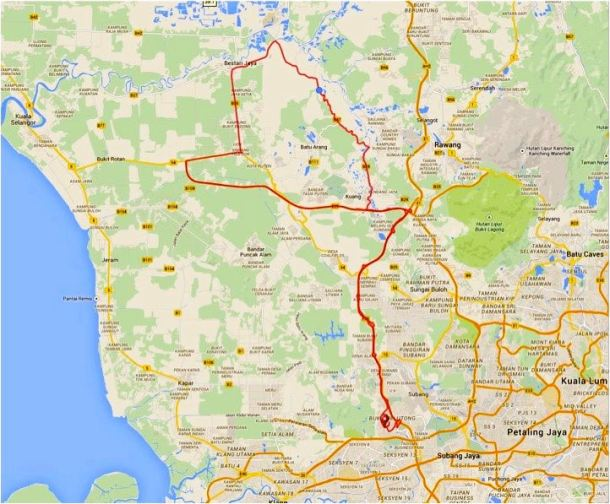 Mystery Ride Route