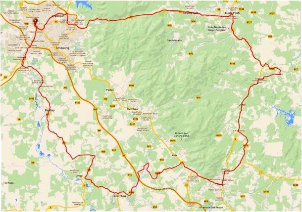 Rembau 2015 Route