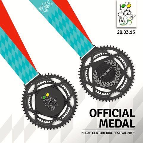 Kedah Century Ride 2015 Medal