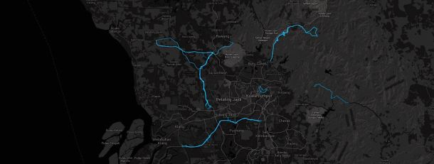 Heatmap courtesy of Strava Labs