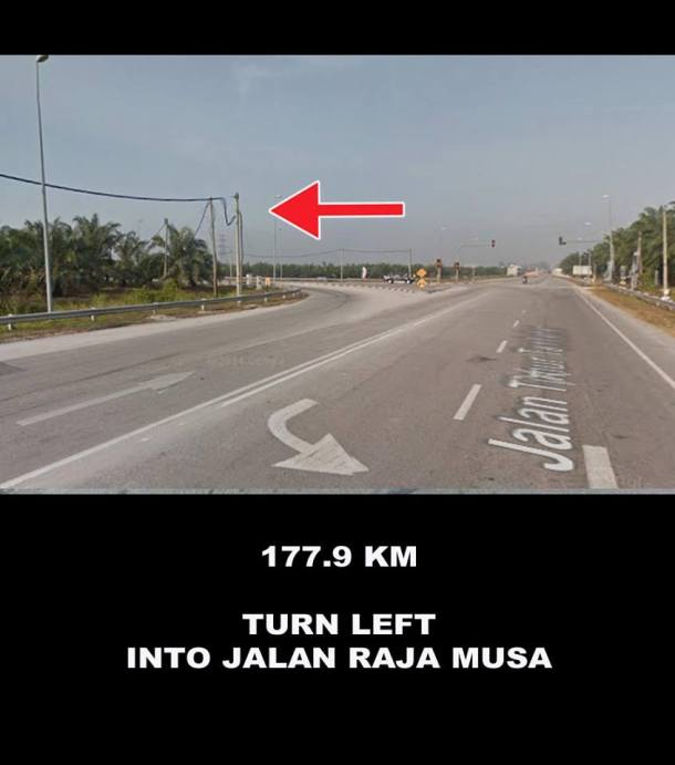 Audax BRM 200 Malaysia 2016 Directions Sam Tow