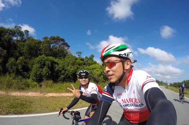 Audax BRM 200 Malaysia 2016 Liang and Mark Liang