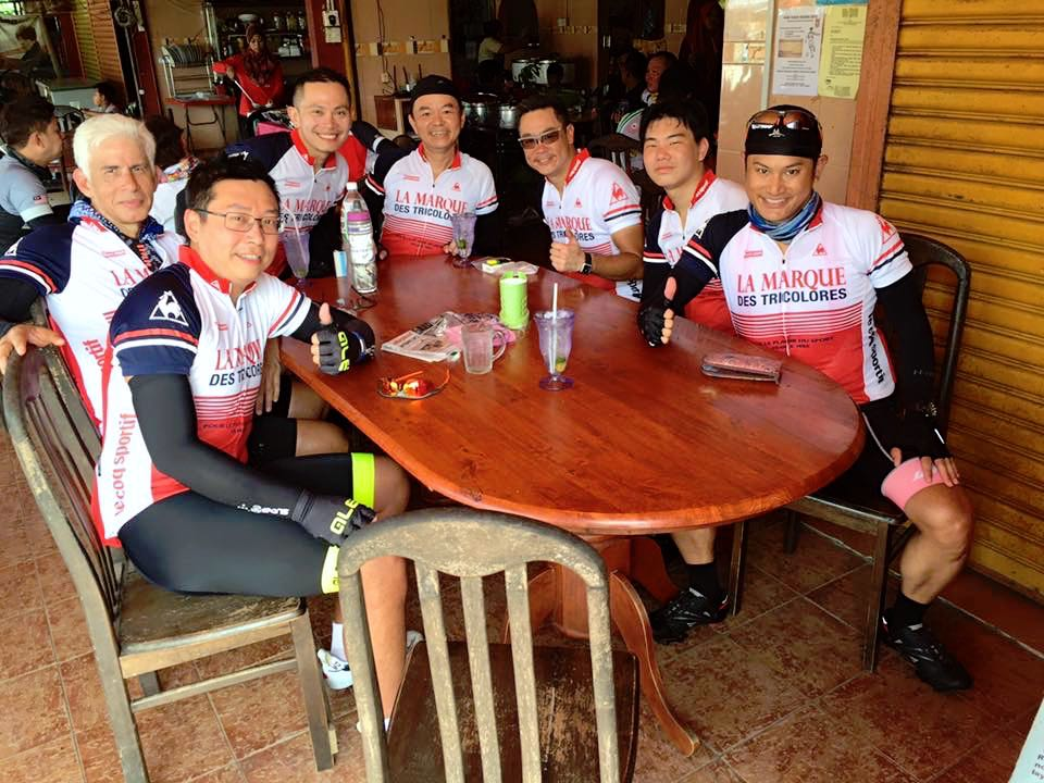 Audax BRM 200 Malaysia 2016 Lunch Marco