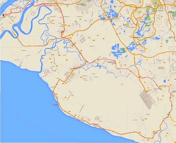 Pulau Indah 180 2016 Route