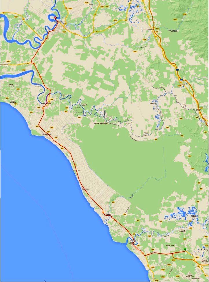BCG Tour Teluk Intan Route