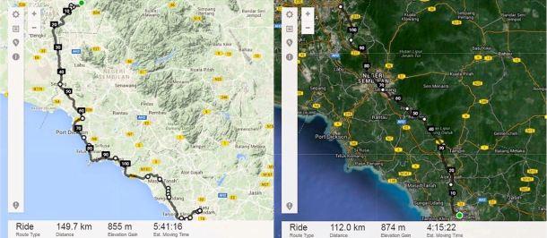 BCG Tour Kajang - Melaka - Kajang Melaka Route