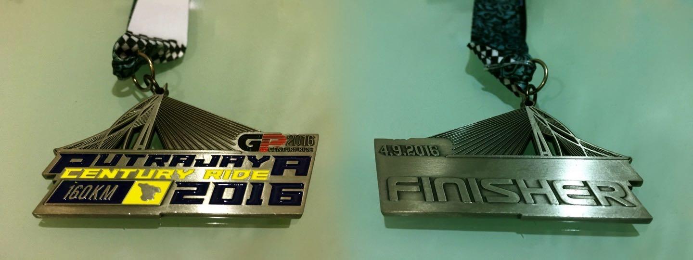 Putrajaya Century Ride 2016 Medal