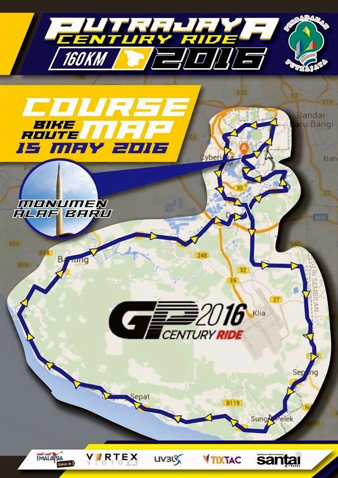 Putrajaya Century Ride 2016 Route 01