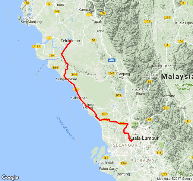 rotary-kl-to-teluk-intan-map
