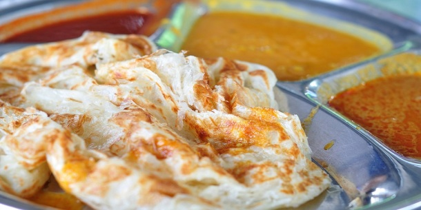 Roti Canai Flat Bread, Indian Food, Made From Wheat Flour Dough.