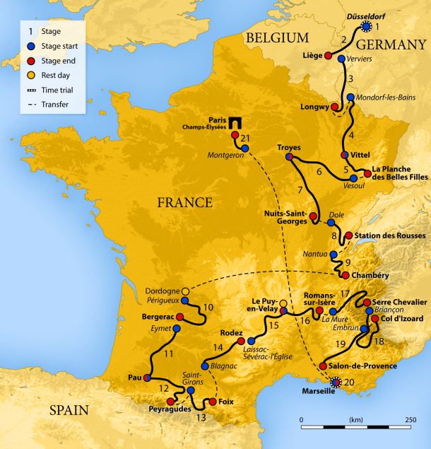 Tour de france old roots new routes this years tour de france covers 3540km 2200mi spread over 21 stages there are fifty three categorized climbs packed into the route gumiabroncs Image collections