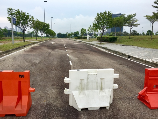 Iskandar Puteri Blocked Road