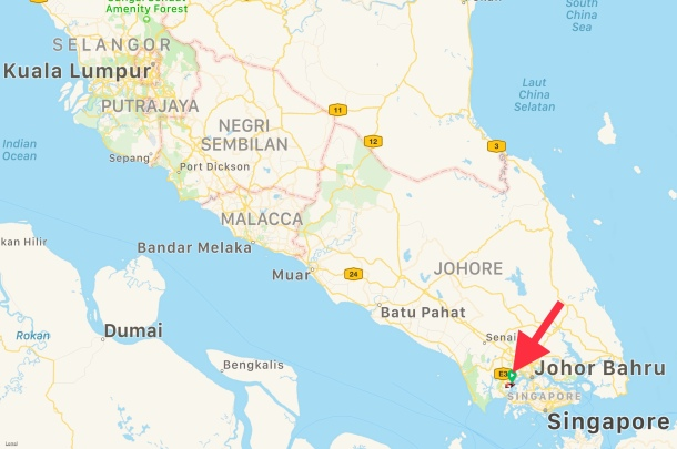 Iskandar Puteri Location