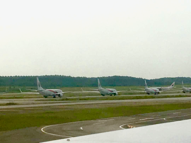 Day 0 Taxiway queue