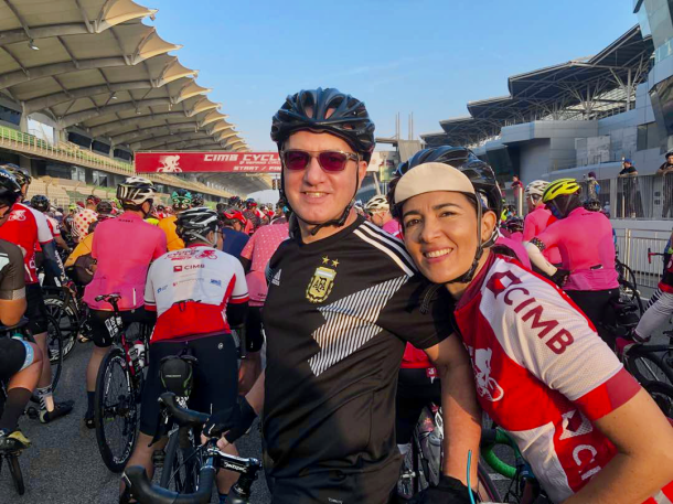 CIMB Challenge Ride 2018 Guadalupe and Manuel Guadalupe Cernusco