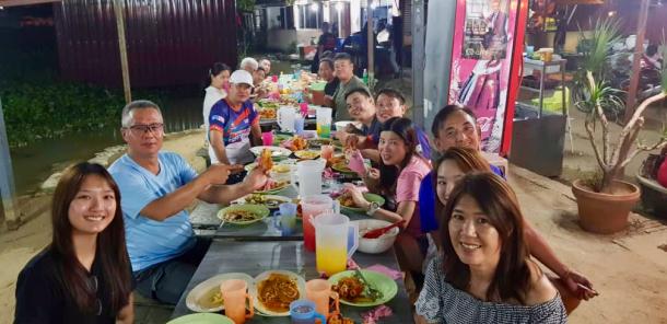 Teluk Intan Day 1 Dinner Group Heng Keng
