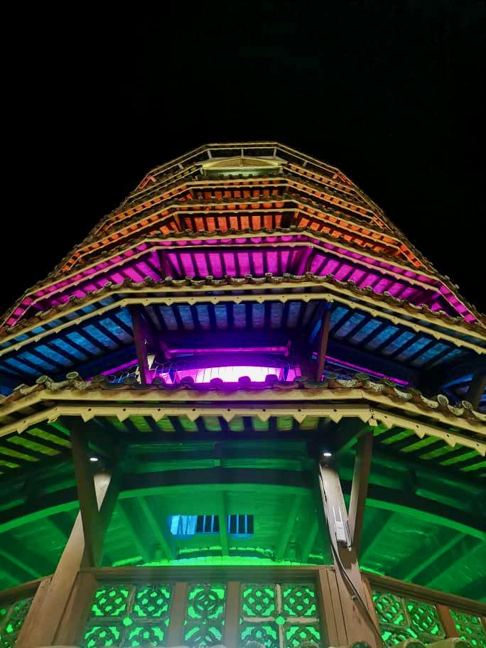 Teluk Intan Day 1 Menara Chondong Night Mark