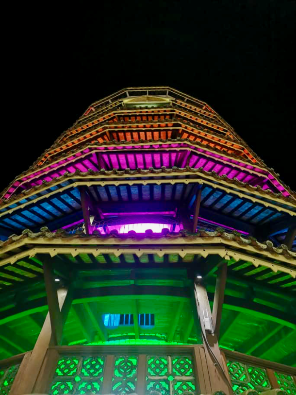 Teluk Intan Day 1 Menara Chondong Night Mark