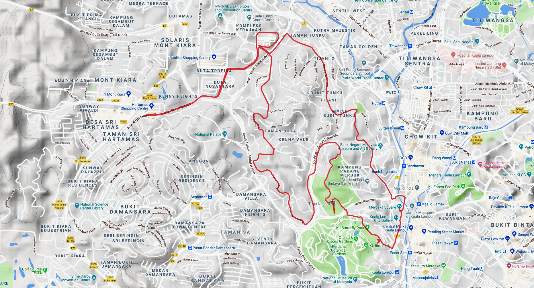 Merdeka Ride Route