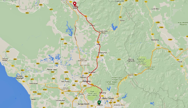 Tanjung Malim Route